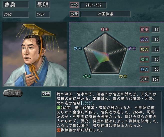 曹奐~魏の最終皇帝→陳留王 - 35...